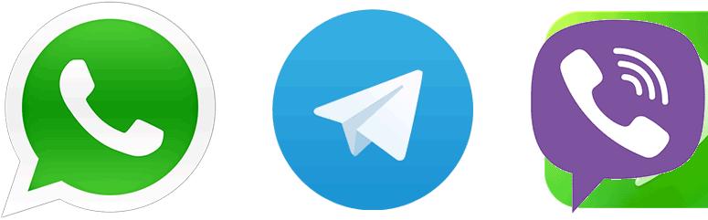WhatsApp, Telegram, Viber